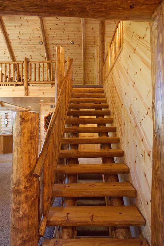 Log Stairs Amp Railing Log Siding